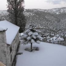 ο παλιός Αγιό Δημήτρης χιονισμένος