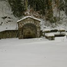 η Κάτω Βρύση, χιονισμένη