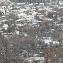 Άποψη του χιονισμένου Καστρίου από τον Άγιο Θανάση